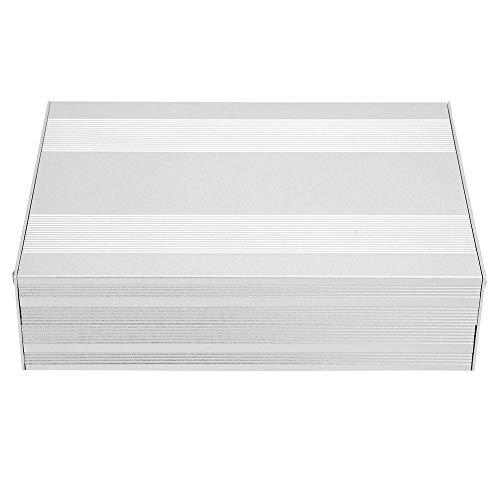 Aluminiumkasten PCB Instrumenten Kühlbox Electronic Project Case 54×145 ×200mm Silber