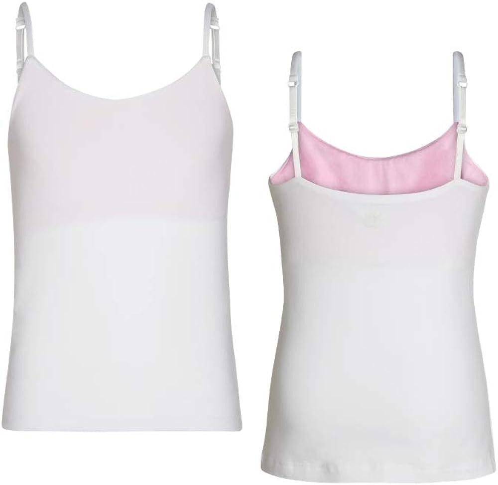 Bleum Camisole Girls Undershirt Tank Top - Ultra-Soft Cami Top - Tank Top with Built-in Shelf Bra & Adjustable Straps