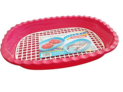DAKE Vassoio per scongelare alimenti, in plastica, per scongelamento rapido (fucsia)