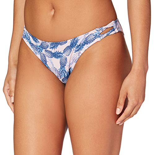 Amazon-Marke: Iris & Lilly Damen Bikinihose, Mehrfarbig (Pineapple Print), S, Label: S