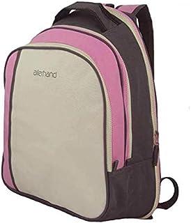 حقيبة ظهر قماشية متعددة الاستخدام زهري رمادي A multi-use canvas backpack