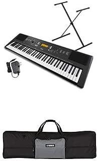 Yamaha PSR-EW300 SA 76-Key Portable Keyboard Bundle with Artiste Series Keyboard Bag for 76-Note Keyboards, Black/Gray