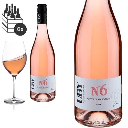 6er Paket 2020 Uby N°6 Rosé Côtes de Gascogne von Domaine d'Uby - Roséwein