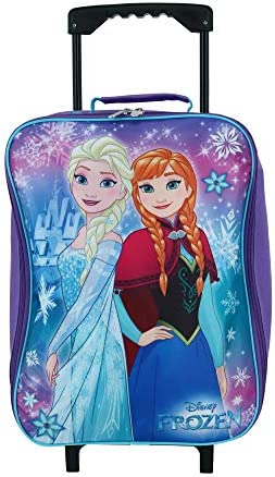 Frozen Elsa & Anna 15″ Collapsible Wheeled Pilot Case – Rolling Luggage