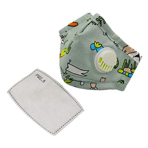 Yeptop Kids Ǎnti-St-AUB-Ge-sichtsMá-śḱe AktivkohleFǐl-těr Mit at-emventil P,M-2.5 Mu-nd-Mu-ffel