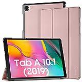 EasyAcc Hülle Kompatibel mit Samsung Galaxy Tab A 10.1 2019 T510 T515 - Ultra Dünn mit Standfunktion Slim PU Leder Schutzhülle, Roségold