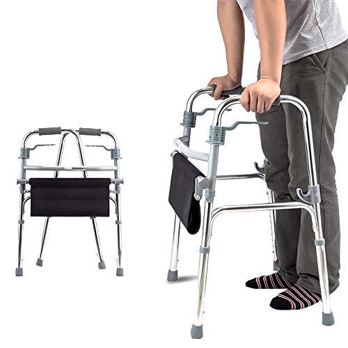 LXDDJZXQ Andador para Ancianos Walker, Andador Plegable for Personas Mayores con Ruedas Delanteras con Asiento y Ruedas Ligero Rango de Altura Plegable 74-92 cm for Ancianos discapacitados o heridos