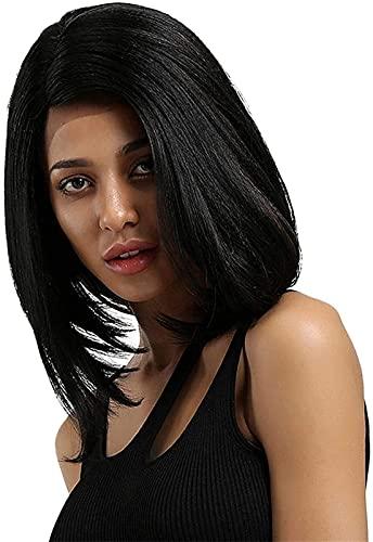 PIAOLIGN Pelucas para mujer, color negro, largo, rizado, liso, liso, para fiesta de cosplay – BGW-10492 (tamaño: BGW10492) (tamaño: BGW10492)