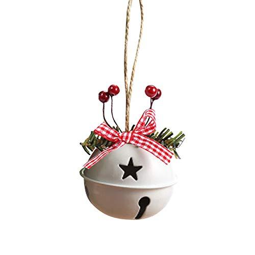secruk Campanelle Campane in Metallo Campanellini Natalizi Decorazione Natalizia Jingle Bells Decorazioni Natalizie Decorazioni per Alberi di Natale Rosso Bianco Imaginative