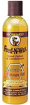 Howard Products FW0008 Wood Polish & Conditioner 8 oz Orange 8 Fl Oz