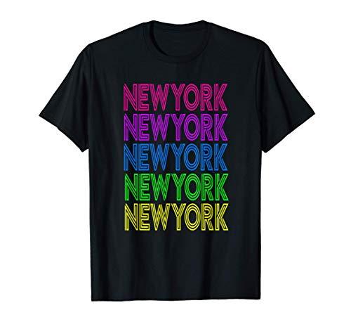 New York América Viaje Vacaciones Colorido Viaje de Verano Camiseta