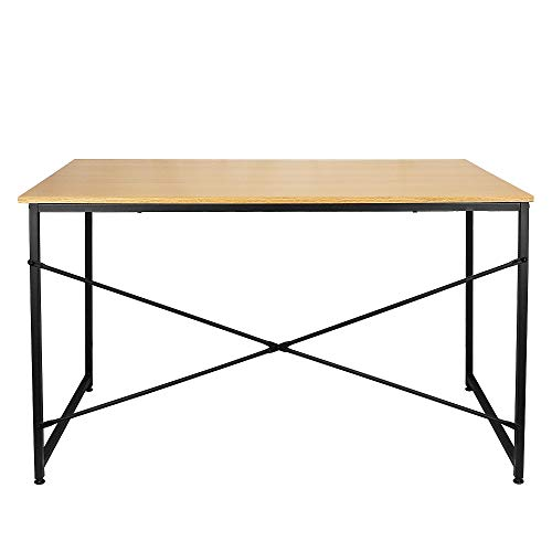 Escritorio de 120 cm de ancho para computadora en casa, oficina, escritura, escritorio de estudio moderno y simple estilo mesa para ordenador portátil (Bamboo)