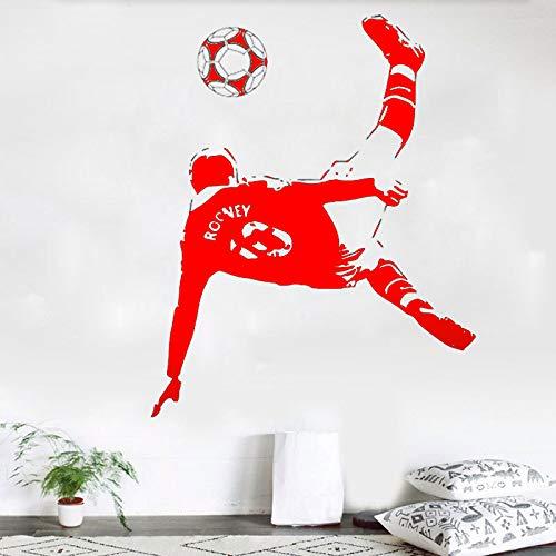 zqyjhkou Adesivi murali a Tema Sportivo Star del Calcio Wayne Rooney Adesivi per Soggiorno Camera dei Bambini e Scuola con Adesivo Rimovibile 2 114x142 cm