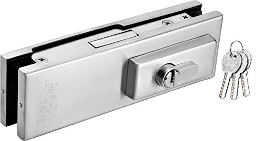 Met Craft Stainless Steel Glass Door Patch Fitting Series - Patch Lock Suitable for 10-12 mm toughened Glass (Silver)