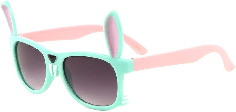 Classic Frame Two Color Rabbit Face Shape Kids Sunglasses
