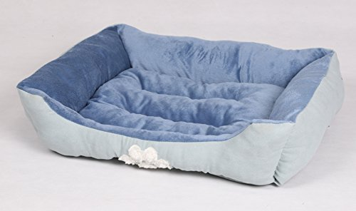 long rich HCT-REC-007 Rectangle Reversible Pet Bed, by Happycare Textiles