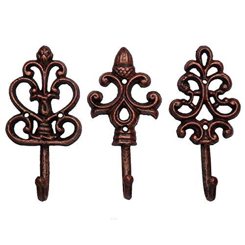 Ganchos de pared decorativos de hierro fundido - Rústicos -...