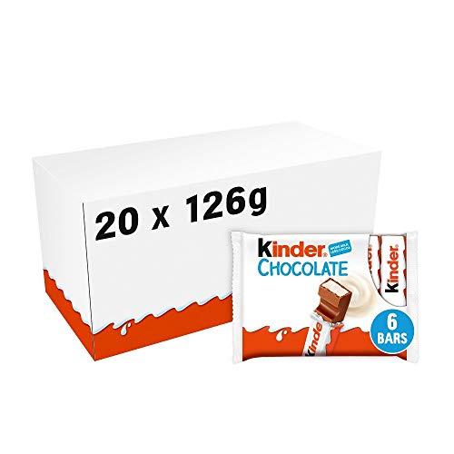 Kinder Maxi, Formato Scorta Contenente 20 Confezioni da 6 Barrette