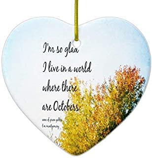 Mesllings Heart Sharp Funny Christmas Ornaments Anne Green Gables Octobers Ceramic Ornament