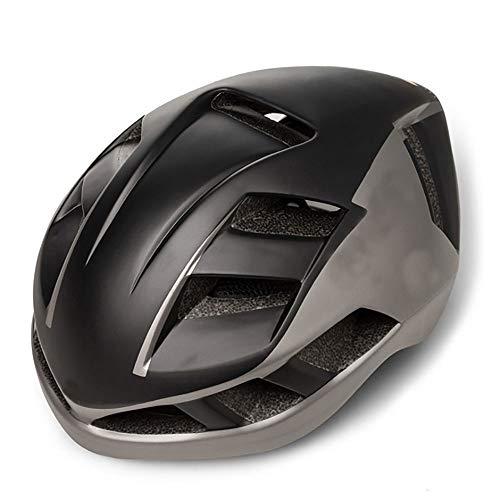 Stella Fella Casco de ciclismo para hombre, de una pieza, unisex, casco de montaña, bicicleta de carretera, color negro