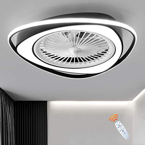LED Deckenventilator Mit Beleuchtung Dimmbare Deckenleuchte Fernbedienung Einstellbar 3 Windgeschwindigkeit Unsichtbar Leise Deckenlampe Wohnzimmer Schlafzimmer Kinderzimmer Beleuchtung Kronleuchter,A