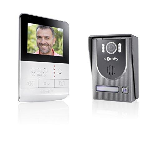 Somfy 2401330 - Videoportero V100 , Kit videoportero , con visión nocturna y ultra resistente , fácil de instalar
