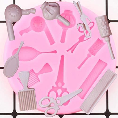 MENGYUE Femme Cheveux Beauté Outils De Maquillage Peigne Curling Miroir Ciseaux Séchoir Silicone Moules Chocolat Bonbons Fondant Gâteau Décoration Outils
