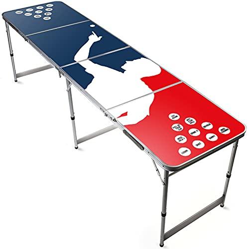 Offizieller Player Beer Pong Tisch   Premium Qualität   Offizielle Wettkampfmaße   Beer Pong Table   Kratz und Wassergeschützt   Stabil   Partyspiele   House Party   100% Spaß