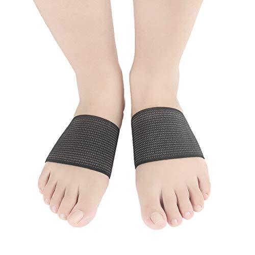 SUPVOX Plantar Fasciitis Foot Arch Support Manga Compresión Pies planos Support Brace Cinta elástica de cobre Ortopédica Plantillas de masaje Almohadillas para hombres y mujeres Tamaño L