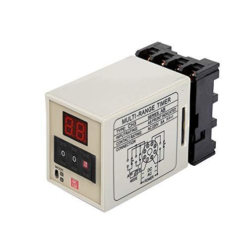 Relé temporizador de retardo digital AH3-DM Modo dual 12/24/220 V para circuito de control automatizado(DC 12V)