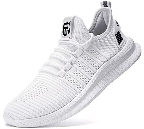 sneakers uomo 69 LARNMERN Scarpe da Ginnastica Uomo Ginnastica Sportive Sneakers Running Basse Basket Sport Outdoor Fitness Sneakers(Bianco 44)
