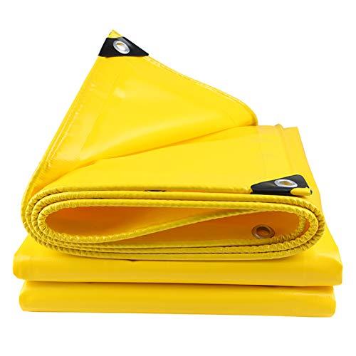GAOYUY Lona Resistente Al Agua, Espesor 0.45MM Hoja De Lona Amarilla Material Textil De Cubierta Exterior Funda Multiusos (Color : Yellow, Size : 4X9M)