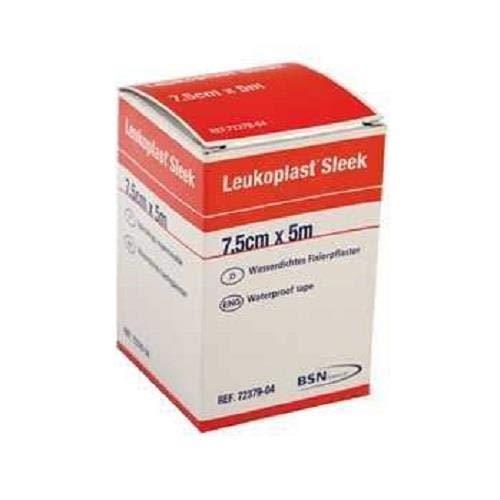 BSN Leukoplast Sleek High Strength Waterproof Adhesive Tape, 7.5cm x 5m, Pack of 1