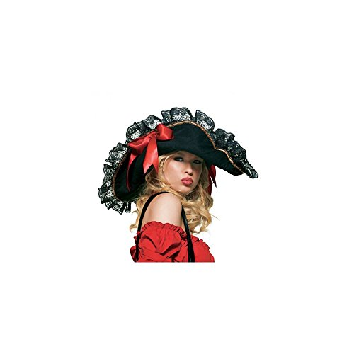 Leg Avenue Women's Swashbucker's Hat, Black/Red, One Size