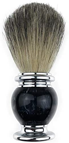 Bicrops Badger Hair Shaving Brush For Gentleman Wet Shave A Base of Heavy Weight Stainless Steel product image