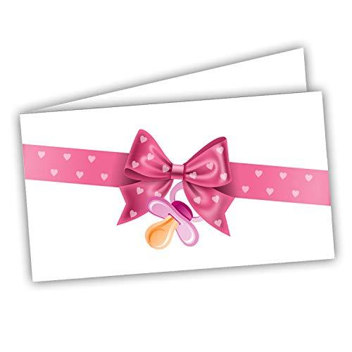 Bigliettini Bomboniera Sacchetti Confetti - 60 pezzi pretagliati - Battesimo Nascita Compleanno - stampa l'interno con il file da scaricare dal link e il foglio di prova per non sbagliare
