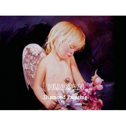 CDNY Niño Retrato-Bricolaje Diamond Painting-Rhinestone Bordado de Punto de Cruz-Artes Manualidades Lienzo Pared Decoración40x40cm40x50cm