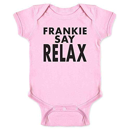 Frankie Say Relax Pink Romper Boydsuit for Baby, 6 to 24 months