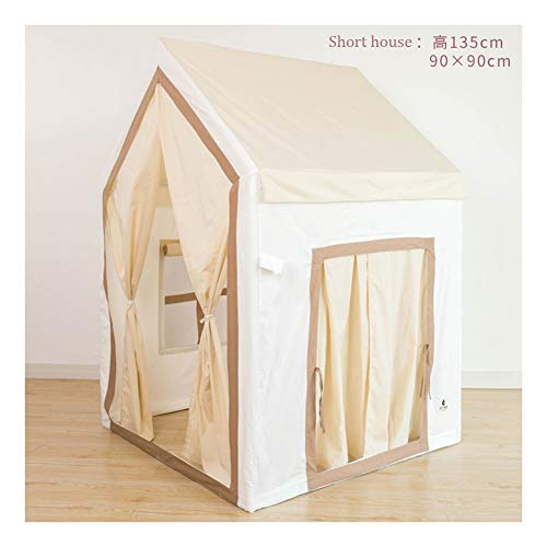 Logo Children's Play House Tent, Toy Play TentIndoor Tent, Kids Play Tents Playhouse Tent (Color : Mika, Size : Short house)