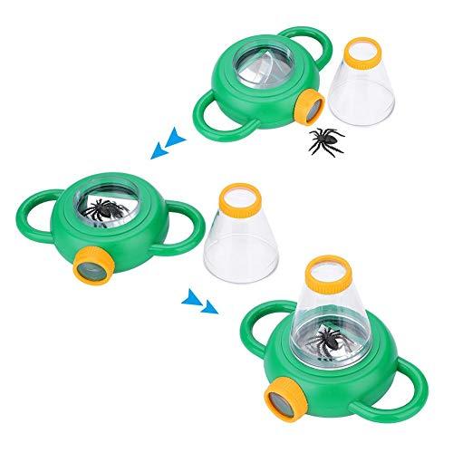 Alomejor Bug Lupe Zwei Wege Insect Bug Viewer 4X Vergrößerung Insekten Box Viewer für Kinder Pädagogisch