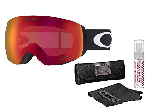 Oakley Flight Deck XM Snow Goggle (Matte Black Frame/Prizm Torch Iridium Lens) with Lens Cleaning Kit