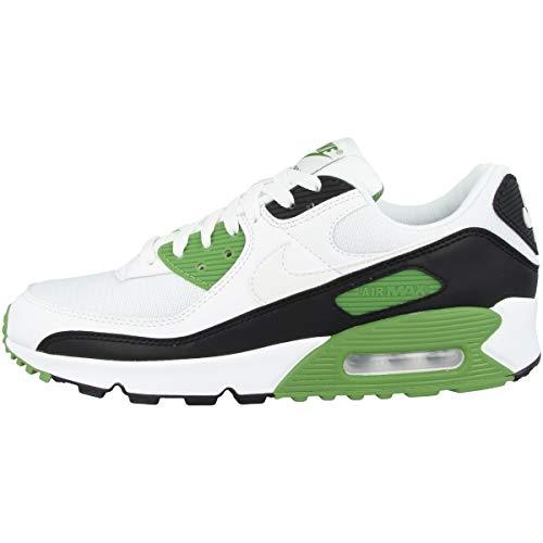 Nike Herren Air Max 90 Laufschuh, White/White-Chlorophyll-Black, 42.5 EU
