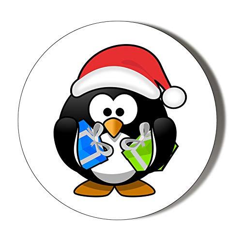 Abrebotellas magnético de Navidad con diseño de pingüino de 58 mm