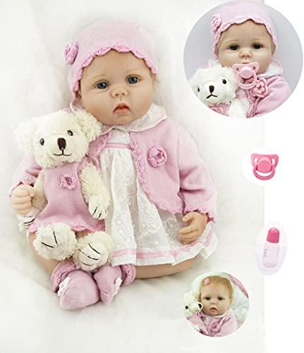 ZIYIUI Realista Reborn Dolls 22''/55cm Muñecas Reborn Suave Silicona Vinyl Bebé Reborn Niña Reborn Toddlers Niña Niño Regalo Juguetes Muñecos Bebé