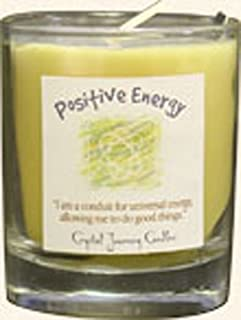 Crystal Journey Herbal Magic Glass Filled Votive Candle - Positive Energy