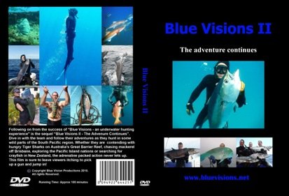 Blue Visions II - The Adventure Continues Spear Fishing DVD, Freediving DVD, Free Diving DVD, Diving DVD, Scuba DVD Freedive Freediving Freediver Free Diver Fish Scuba Dive