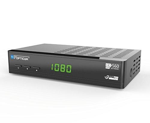 Opticum HD S60 - Receptor de TV por satélite (HDMI, DVB-S2, USB), color negro
