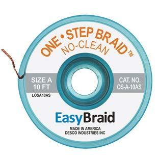 EasyBraid LF-B-10AS Desolder Braid Lead Free Ranking TOP6 X .050 EA 1 ESD 10' Popular product