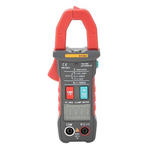Rango automático Voltaje True RMS Full Intelligent 4000 cuentas Multímetro de corriente digital de alta sensibilidad para laboratorios para entusiastas de la radio para electricista (rojo)