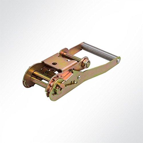 LYSEL lange hendel ratel voor sjorriem druk ratel spanriem voor 50mm spanbanden 1 Stück, 5000 Kg, 50 mm (B) messing